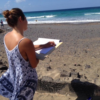 Tina drawing seascape - class al fresco