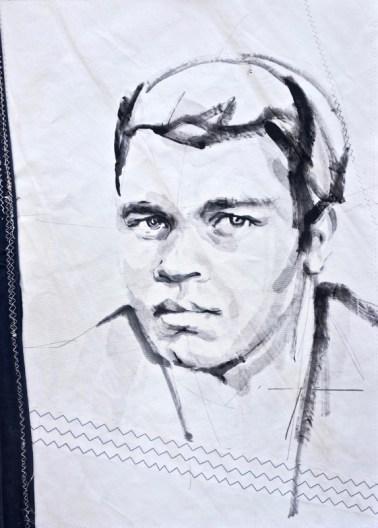 Mohammed Ali Acrylic on sailcloth   50x70 cm