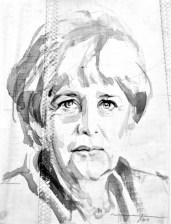 Angela Merkel |Acrylic on sailcloth | 30 x 42 cm