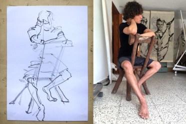 Model Luis | Model Drawing Famara Lanzarote