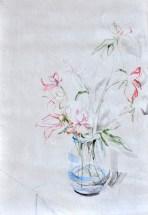 Flowers Sail Light  Acrylic on sailcloth   88x130 cm   Steel frame top&bottom