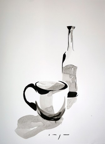 Dutch Art China | Botle and cup |Ink on paper | A3