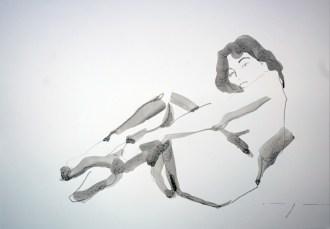 Vintage nude 01|Ink on paper | A3