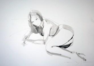 Vintage nude 02|Ink on paper | A3