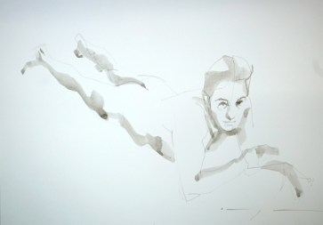 Vintage nude 04|Ink on paper | A3
