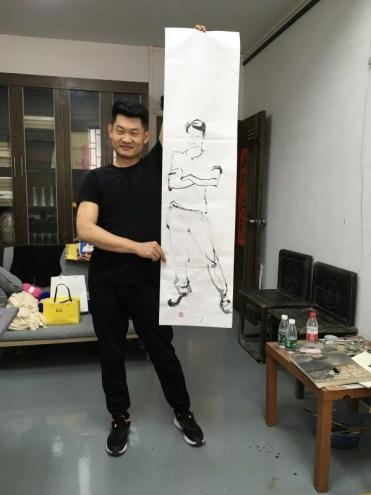 Working at the Foshan Art Institute China 2018