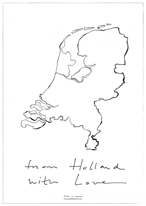 From Holland with Love   digital drawing   prints available