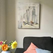 Still life painting on wall