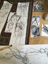Model drawing sketches group