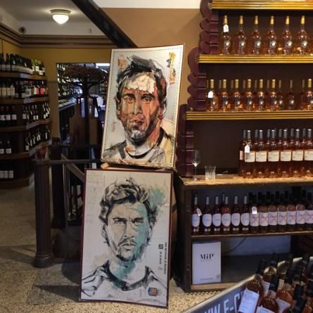 Wine & Art & a touch of football  Lionel Messi, Fernando Llorente