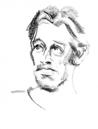 Portret model Frank model tekenen drawing