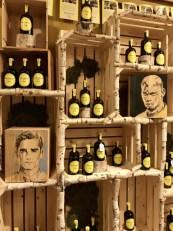 Griezmann & Pogba portraits on winebox | acrylic on wood