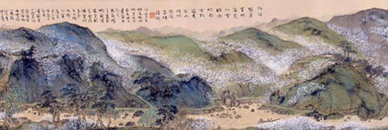 女流画家、奥原晴湖の画