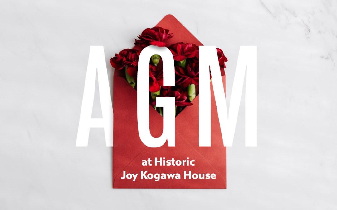 Kogawa House AGM set for Wednesday, April 25, 7:30pm
