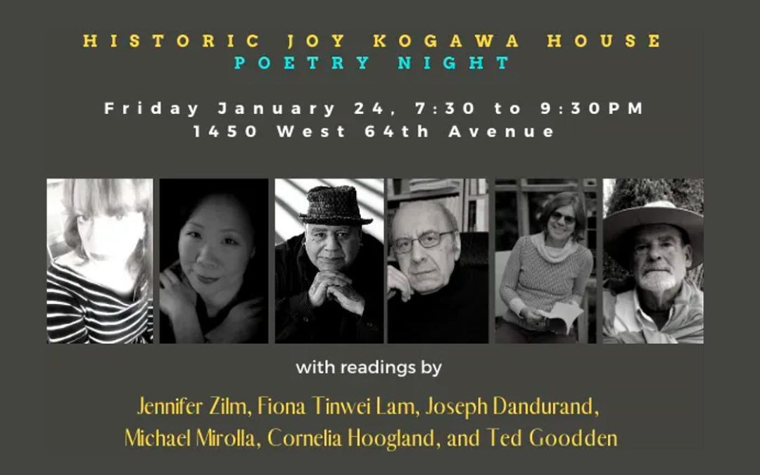 Kogawa House: Poetry Night with Michael Mirolla