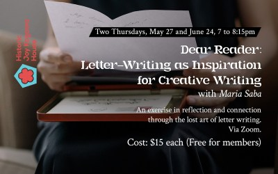 Dear Reader: Letter-Writing as Inspiration for Creative Writing with Maria Saba