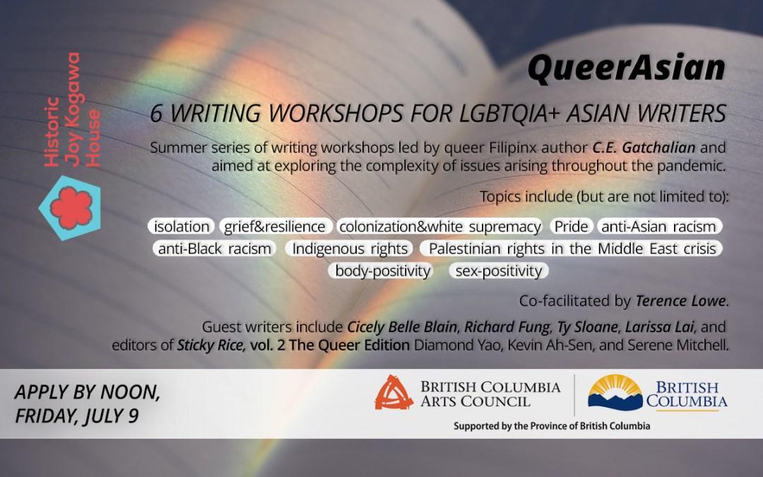 QueerAsian writing workshops at Kogawa House