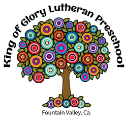 Preschool logo with drawing of tree with multicolored circles
