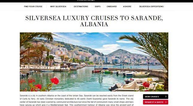 Anijet turistike në zbulim të Shqipërisë