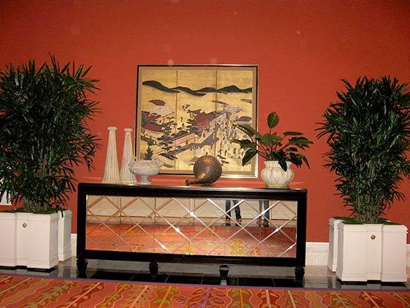 Kohala Nursery's   Rhapis  Palms compliment elegant Hotel interior.