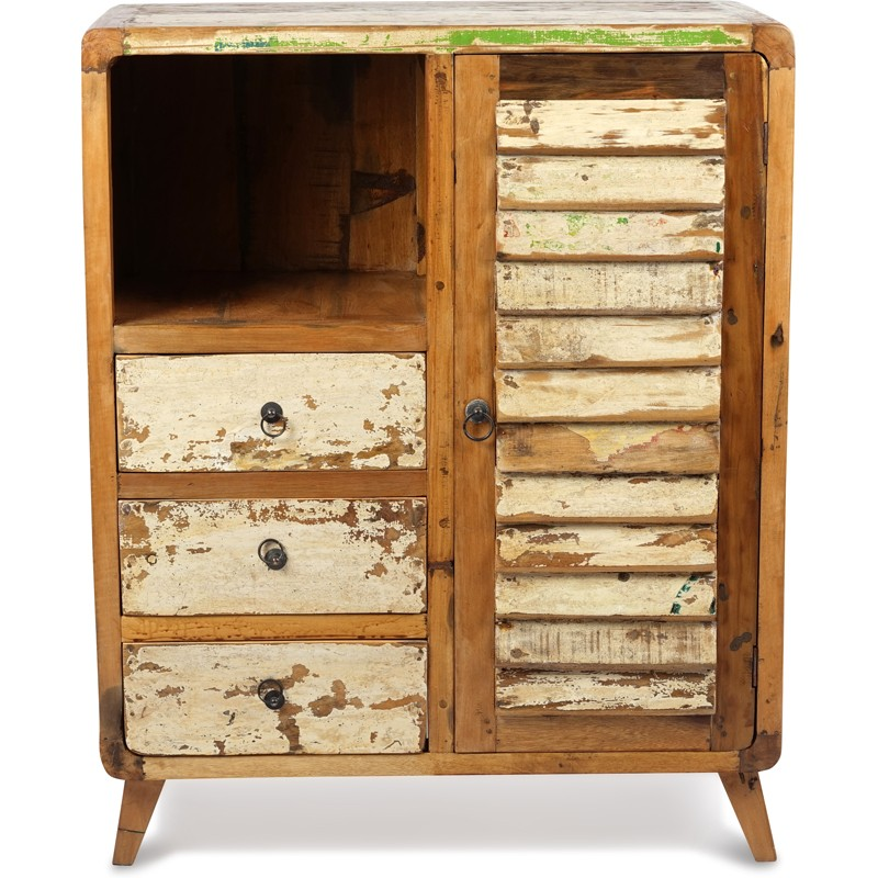 meuble d entree sala en bois recycle