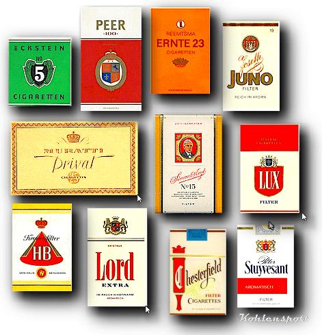 zigaretten unter sich