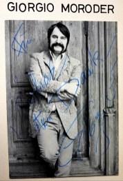 Für Lothar mit bestem Dank. Giorgio Moroder 1970