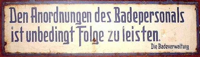 Originalschild Freibad Grimberg