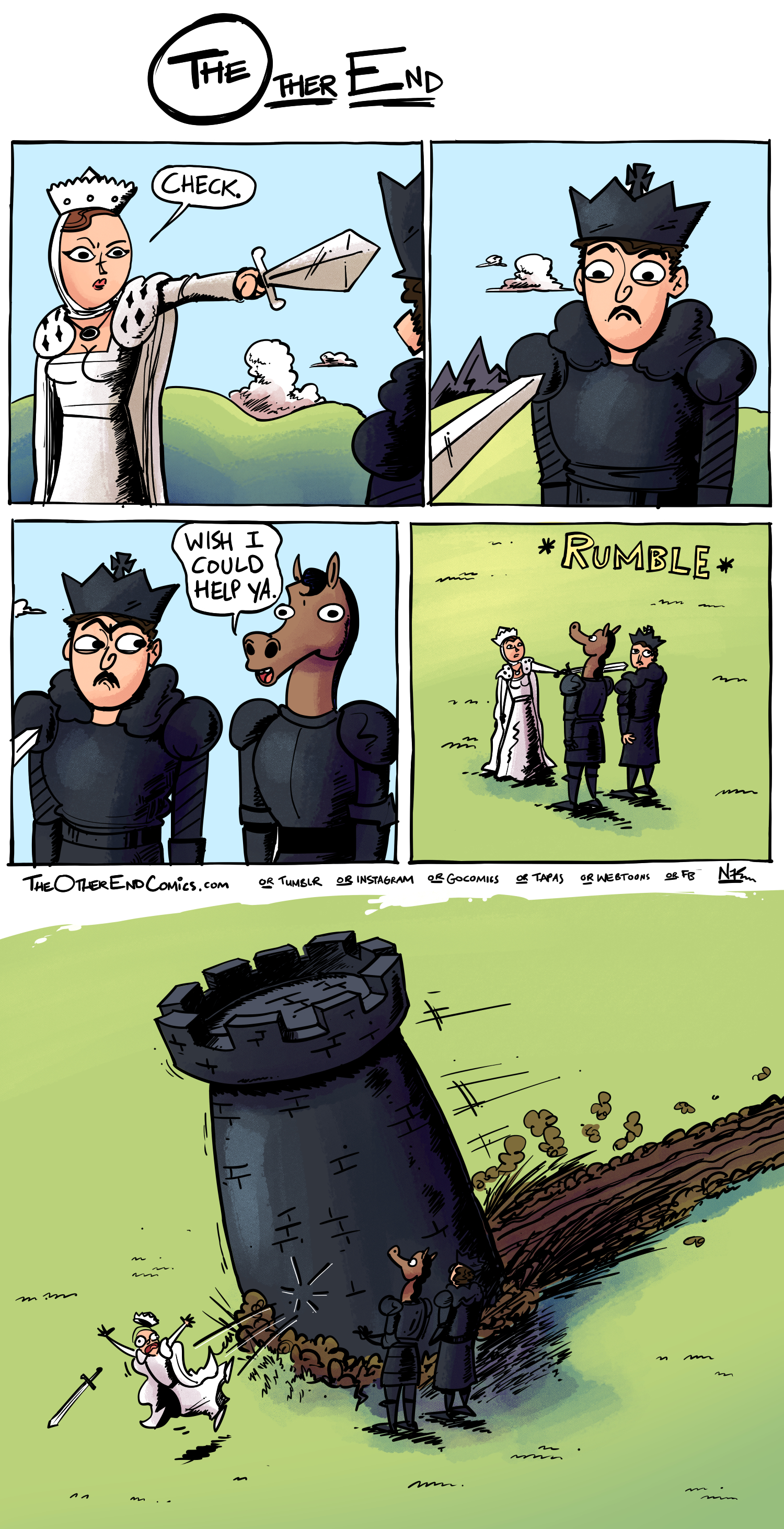 There's not even a checkerboard pattern on the battlefield. This comic is so fake