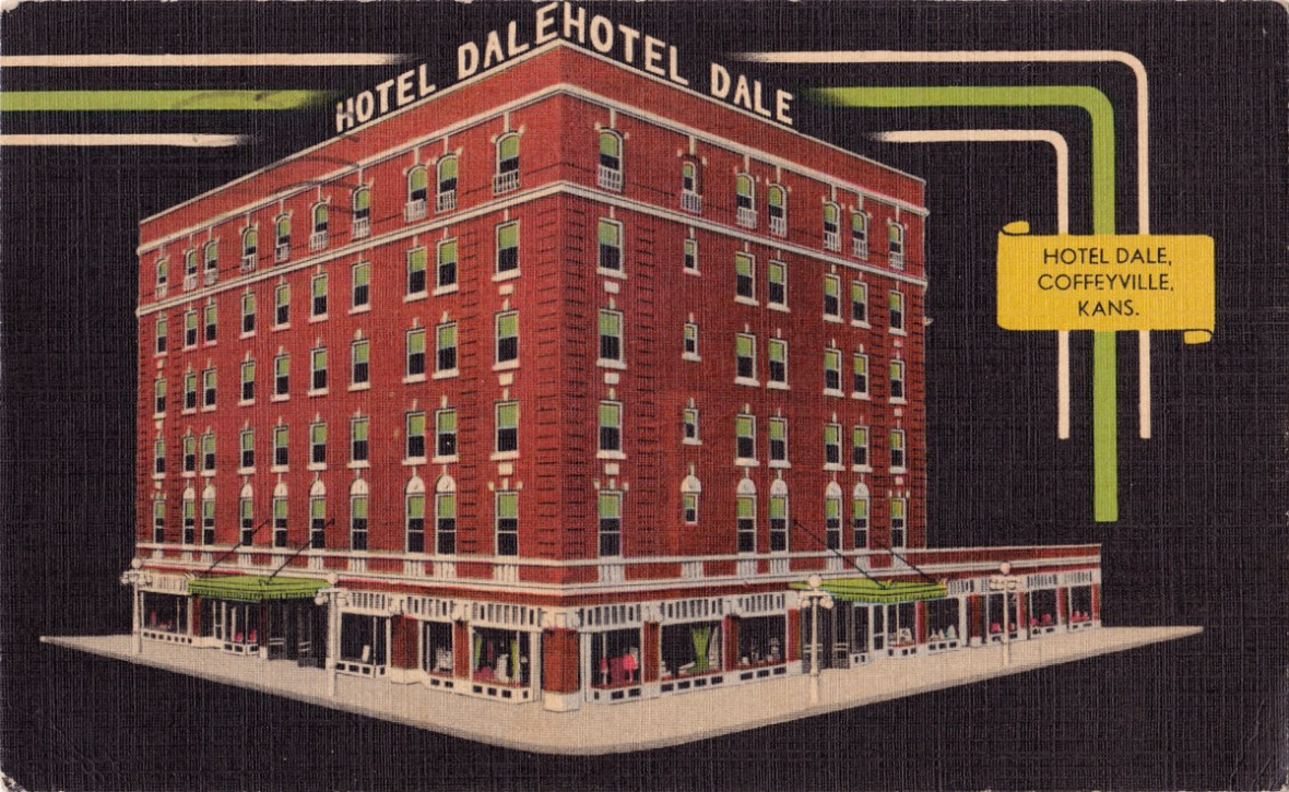 Hotel Dale - 206 West 8th Street, Coffeyville, Kansas U.S.A. - 1946