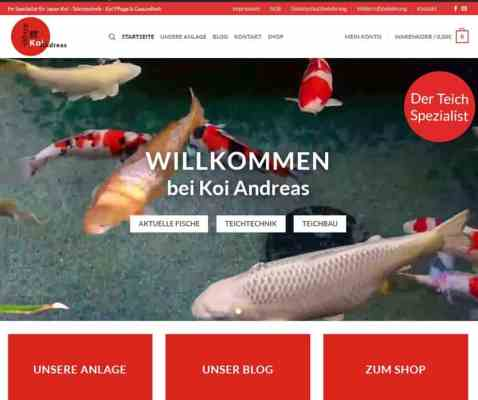 Koi Andreas Website