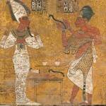 Nefertiti scansione su affresco