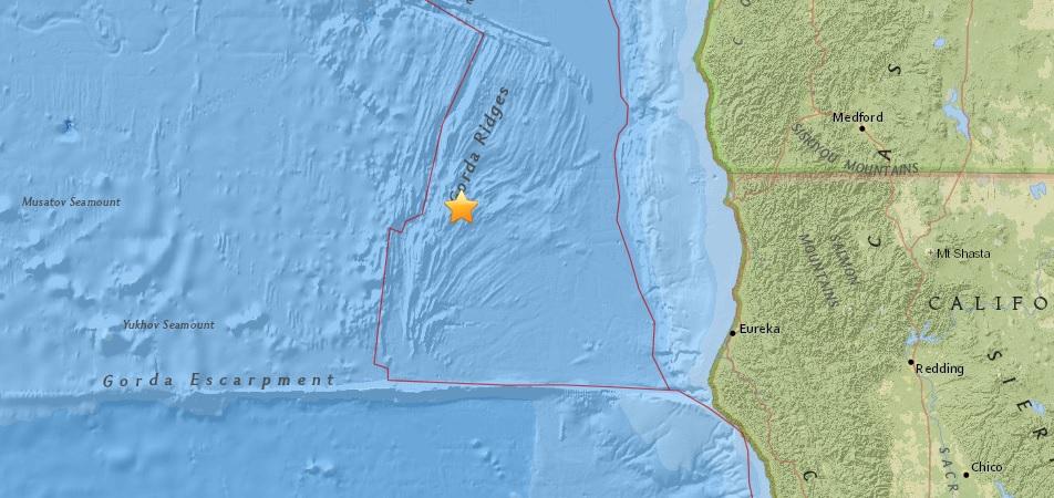 5.0 magnitude quake recorded off coast of Gold Beach, Jul y24 2018. (USGS)