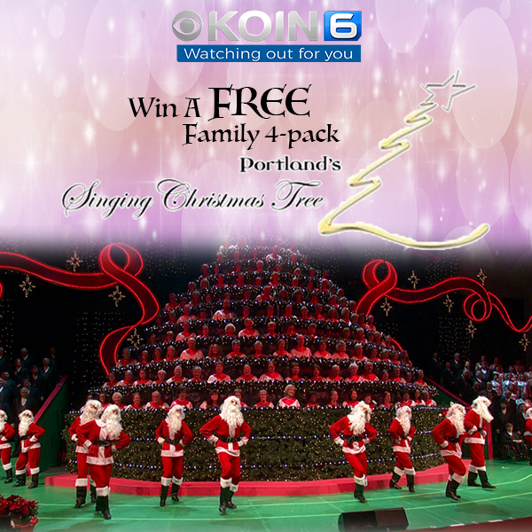 Singing Christmas Tree Portland.Win A Family 4 Pack Of Tickets To Portland S Singing