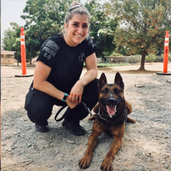 WCW officer Clare Davis and k9 bo