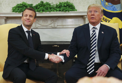 Donald Trump, Emmanuel Macron