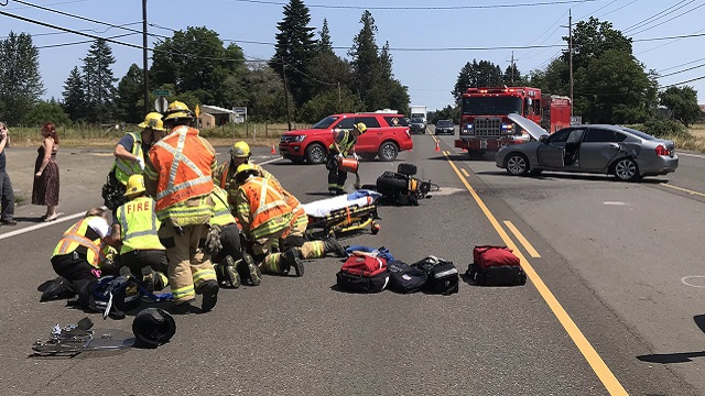 Motorcyclist wounded in serious collision on TV Hwy
