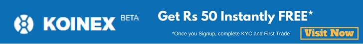 koinex signup offer get rs 50 free to trade
