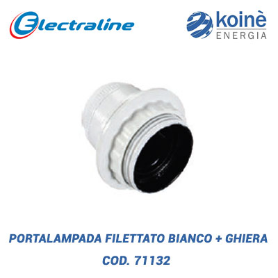Portalampada filettato BIANCO electraline
