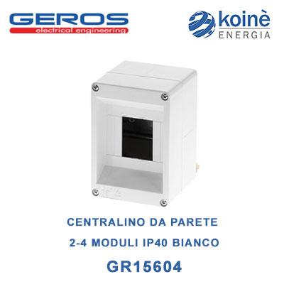 CENTRALINO DA PARETE 2 4 MODULI IP40 BIANCO-geros