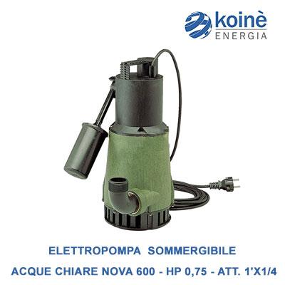 Elettropompa pvc sommergibile acque chiare