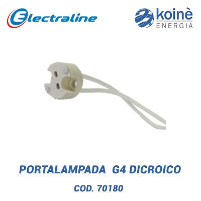 Portalampada G4 dicroico Electroline