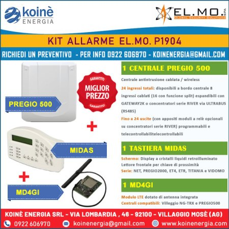 kit antifurto elmo p1904