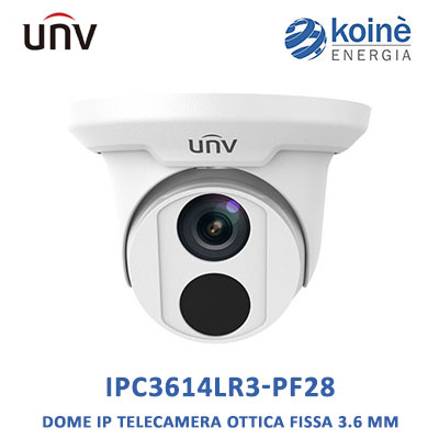 Uniview-IPC3614LR3-PF28-telecamera-dome-ip