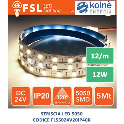 strisce led fsl FLS5024V20IP40K