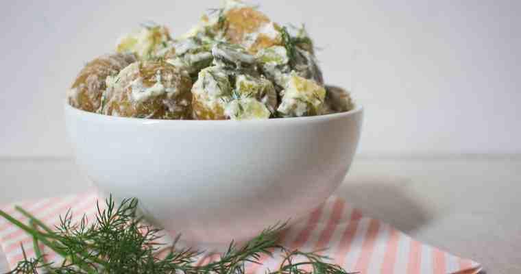 Gezonde aardappelsalade