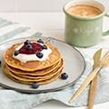 Volkoren pancakes in de blender