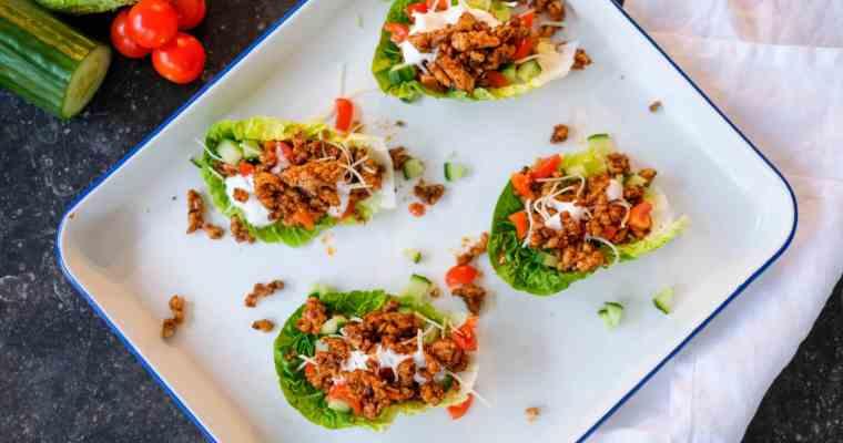 Sla taco's met kipgehakt