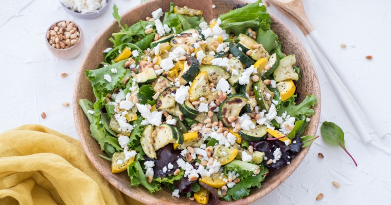 Gegrilde courgette salade