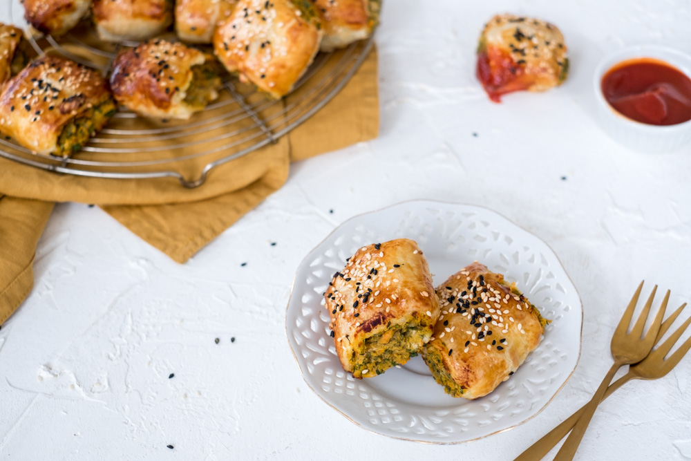 Veggie worstenbroodjes